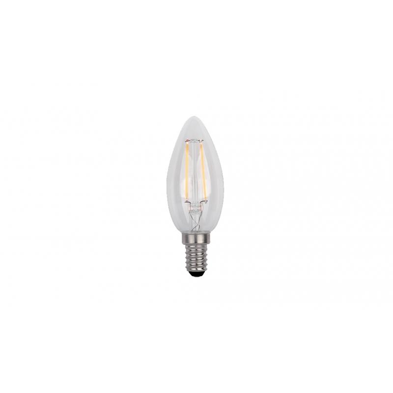 ΛΑΜΠTHΡΑΣ LED CANDLE C35 FILAMENT 4W E14 230V 2700K WARM WHITE ΜΑΤ